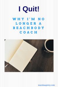 No longer a beachbody coach