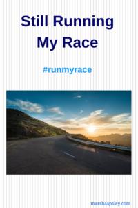 still running my race