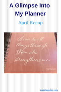 planner April recap