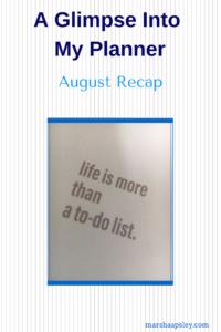 August 2018 recap