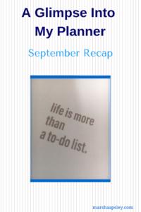 September 2018 planner