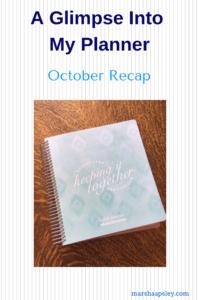 October 2018 planner
